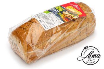Pâine neagră feliată