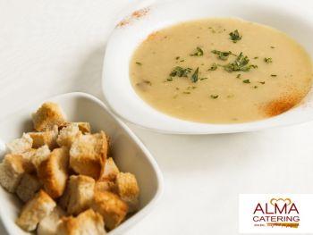 Supa crema de ciuperci cu crutoane
